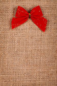 Little red ribbon — Stock Photo