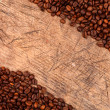 Border of coffee beans — Stock Photo