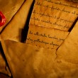 Ancient envelopes and letters — Stock Photo