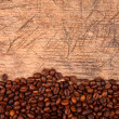 Bottom border of coffee beans — Stock Photo