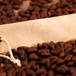 Vignette on coffee beans — Stock Photo