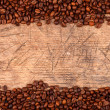Coffe beans as border — Stock Photo #37205173