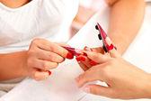 Preparing artificial nails — Stock Photo