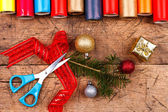 Ready for Christmas wrapping! — Stock Photo