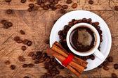 Café com canela — Foto Stock
