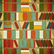 Vintage seamless Book Background - Stok Vektr