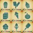 Ice Cream - set labels — Stock Vector