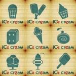 Ice Cream - set labels — Stock Vector #12497941