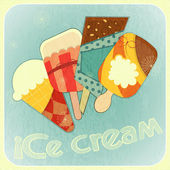 Ice cream retro menu cover — Stock Vector