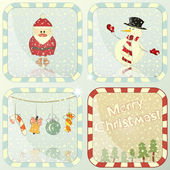 Set of Christmas cards — Stock Vector