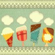 Ice cream retro price - Stock Vector