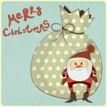 Christmas cards with cartoon Santa — Stock Vector #13126354