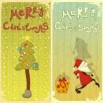 Retro Set of Christmas card — Stock Vector #13126402