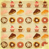 Retro Dessert Background — Stock Vector