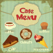 vintage cafe menu — Stock Vector