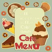 Design Cafe Menu — Stock Vector