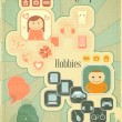 Retro Placard - Hobbies - Imagens vectoriais em stock