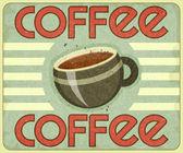 Retro Cover for Coffee Menu — Stock Vector