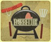 Barbecue Menu — Stock Vector