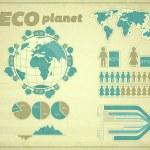 Eco Planet — Stock Vector