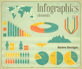 Vintage infographic elements — Stock Vector