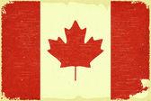 Drapeau canadien — Vecteur