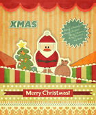 Christmas cards with Santa — Stock Vector