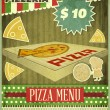 Retro Cover Menu for Pizzeria - Stock Vector