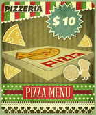Retro Cover Menu for Pizzeria — Stock Vector