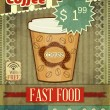 Vintage Cover for Coffee Menu - Stock Vector