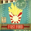 Grunge Cover for Fast Food Menu — Stock Vector
