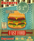 Grunge Cover for Fast Food Menu — 图库矢量图片