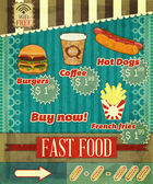 Vintage fast food Menu — Stock Vector