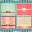 Set of four retro Holiday backgrounds — Stock Vector #14367051
