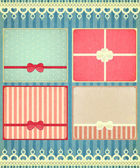 Set of four retro Holiday backgrounds — Stock Vector