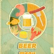 Retro Cover Menu for Beer — Stock Vector
