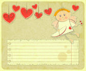 Retro Valentines Day Card — Stock Vector