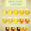 Vintage Beer Card. Lager. - Stock Vector