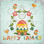 Retro Design of Easter Card — Stock Vector