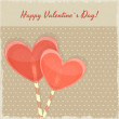 Retro Valentines Day Card with Sweet Hearts — Stock Vector #16518753