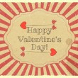 Grunge Design Valentines Day Card - Stockvektor