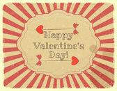 Grunge ontwerp valentijnsdag kaart — Stockvector