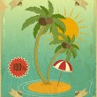 Retro Vintage Grunge Summer Vacation Postcard — Stock Vector #18678007