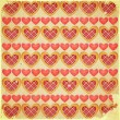 Retro Valentines Day Background with Hearts — Vettoriali Stock