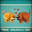 Valentines Day Vintage Card - Stockvectorbeeld