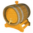 Stock Vector: Wine Cask