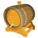 酒桶 — 图库矢量图片