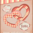 Retro Postcard to the Valentine — Stock Vector