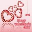 Postcard to the Valentine - Stock Vector