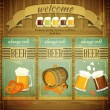 Pub Beer Menu - Stock Vector